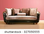 vintage couch   made of brown... | Shutterstock . vector #327050555