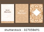 doodle floral vintage banner set | Shutterstock .eps vector #327058691