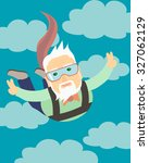 grandpa jumping with a... | Shutterstock .eps vector #327062129