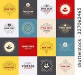 vintage frames  labels. helping ... | Shutterstock .eps vector #327062465