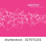 Vector White Abstract Particle...
