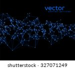 vector blue abstract particles... | Shutterstock .eps vector #327071249