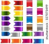 web ribbon set  vector... | Shutterstock .eps vector #327073499
