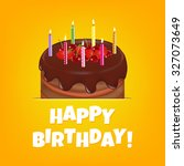 happy birthday card with... | Shutterstock .eps vector #327073649
