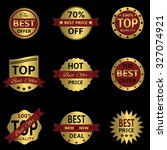 golden badges and labels with... | Shutterstock . vector #327074921