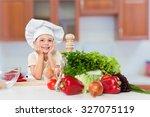 kid chef. | Shutterstock . vector #327075119