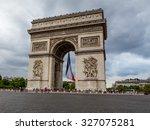 paris  france july 19  arc de... | Shutterstock . vector #327075281