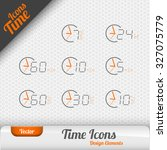 vector time icons isolated on... | Shutterstock .eps vector #327075779