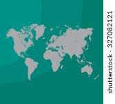 world map illustration | Shutterstock .eps vector #327082121