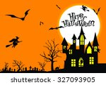 happy halloween | Shutterstock .eps vector #327093905