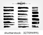 vector large set hand drawn... | Shutterstock .eps vector #327094991