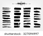 vector large set hand drawn... | Shutterstock .eps vector #327094997