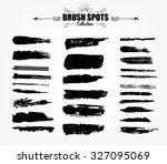vector large set hand drawn... | Shutterstock .eps vector #327095069