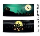 halloween night  vector... | Shutterstock .eps vector #327097061