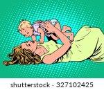 mother child childhood... | Shutterstock .eps vector #327102425