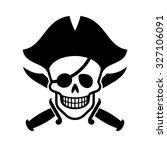 jolly roger. human skull and...   Shutterstock .eps vector #327106091