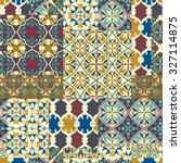 seamless cracked pattern of... | Shutterstock .eps vector #327114875