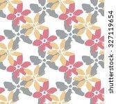 cute flowers. seamless pattern   Shutterstock .eps vector #327119654