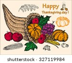thanksgiving set | Shutterstock .eps vector #327119984