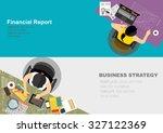 flat design illustration... | Shutterstock .eps vector #327122369