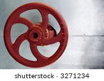 Red Rusty Industrial Faucet...
