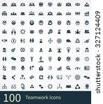 teamwork icons vector set | Shutterstock .eps vector #327124409
