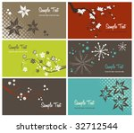 set of floral business cards ... | Shutterstock .eps vector #32712544