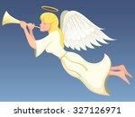 vector illustration of an angel ...   Shutterstock .eps vector #327126971