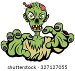 vector illustration of a cranky ... | Shutterstock .eps vector #327127055