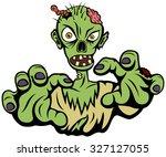 vector illustration of a cranky ... | Shutterstock .eps vector #327127055