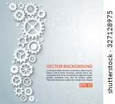 abstract techno background with ... | Shutterstock .eps vector #327128975