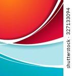 vector brochure  flyer ... | Shutterstock .eps vector #327133094