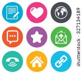 mail  contact icons. favorite ... | Shutterstock .eps vector #327134189