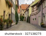 old street. rothenburg  germany. | Shutterstock . vector #327138275
