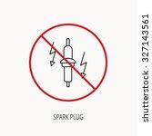 stop or ban sign. spark plug...   Shutterstock .eps vector #327143561