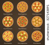 different type of pizza   Shutterstock . vector #327143891