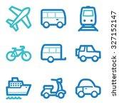 transport web icons | Shutterstock .eps vector #327152147
