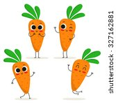 carrot. cute vegetable vector... | Shutterstock .eps vector #327162881