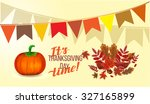 happy thanksgiving day concept...   Shutterstock .eps vector #327165899