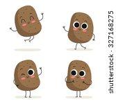 potato. cute vegetable vector...   Shutterstock .eps vector #327168275