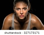 serious confident stare... | Shutterstock . vector #327173171