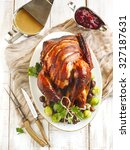 Roasted Turkey With Bacon And...