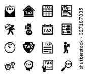 tax and finance icons vector... | Shutterstock .eps vector #327187835