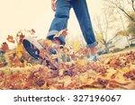 Child Walking And Kicking Fall...