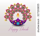 beautiful greeting card for... | Shutterstock .eps vector #327203855