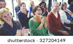 audience applaud clapping... | Shutterstock . vector #327204149