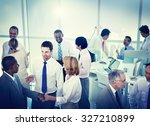 group of business people... | Shutterstock . vector #327210899