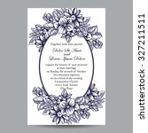 invitation with floral... | Shutterstock .eps vector #327211511