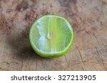 lemon slice on cutting boards... | Shutterstock . vector #327213905