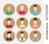people icon vector all hair... | Shutterstock .eps vector #327222569